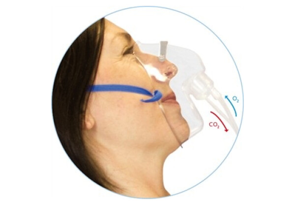 Adult Dual Mask with CO2 Monitoring