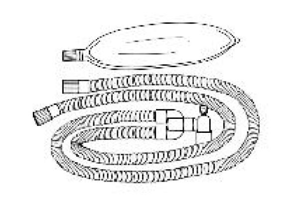 Adult Circuit with Gas Sampling Elbow, Bifurcated Wye, 3 Liter Bag